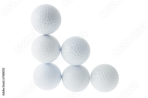 Stacks of Golf Balls