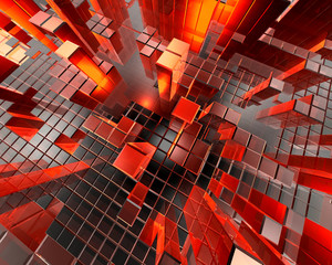 Abstract Technology Cubes