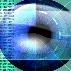 Eye being scanned
