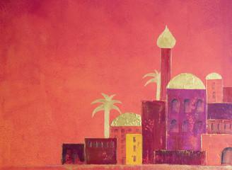 orientalische Stadt gemalt
