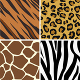 Fototapety Seamless tiling animal print patterns