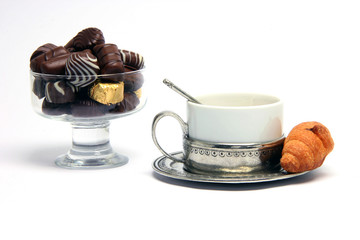 teacup croisant chocolates