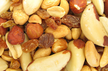 Nuts mixed snack food