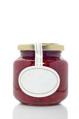Strawberry glass jar