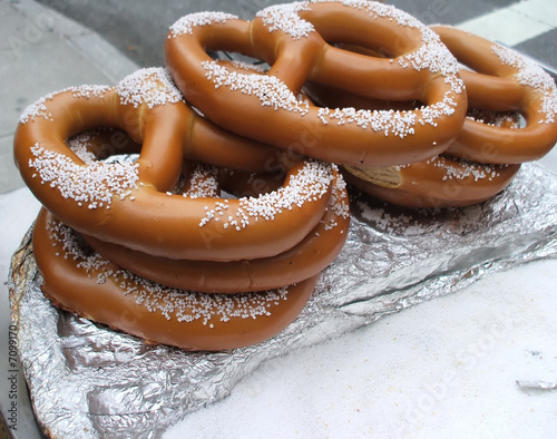 Soft Pretzels with Salt, New York City Street Vendor