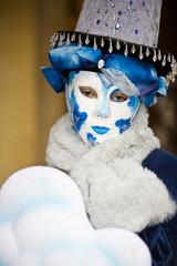 Blue costume in Venice