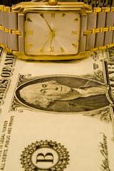 dolar and clock