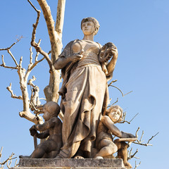 Statues in Aix-en-Provence.
