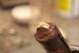 Jeweler making rings poster