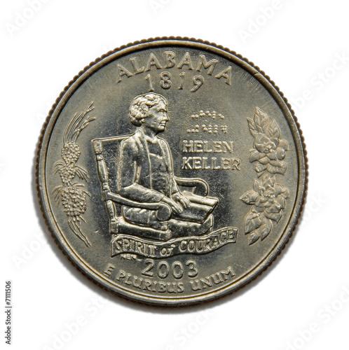 USA Alabama quarter dollar