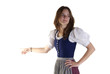 woman in Dirndl point