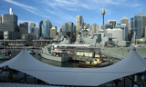 view from darling harbour poster