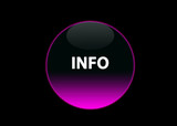 Button info pink neon poster