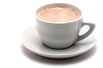 single cup of cappucino