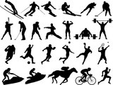 Vector Sport Silhouettes poster