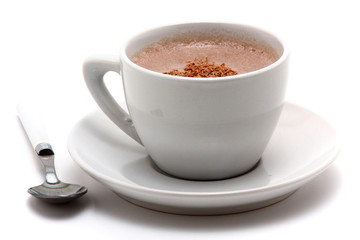 cappucino in white cup