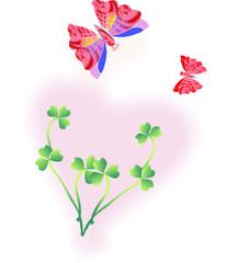 papillons des coeurs