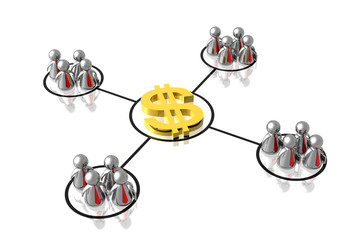 business partnership making money