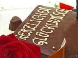 herzlichen glückwunsch schokoladenkuchen poster