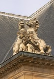 Les Invalides, Paris, the detail of the roof poster