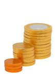 Increasing column of coins poster