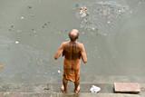 A Men washing on the ganges, Varanasi (Benares) poster