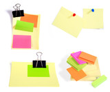 Post-it notes isolated on the white background