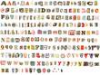 Leinwanddruck Bild - Torn newspaper letters alphabet