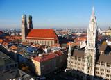 Fototapety München Rathaus und Frauenkirche