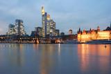 skyline frankfurt twilight poster