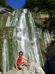 Le saut de l'éventail, Cascades du Hérisson, Jura