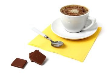 black coffee and chocolate