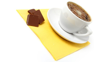 black coffee in cup / isolated