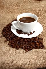 black coffee and brown sack