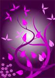 Magenta Floral Background poster