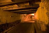 Guanajuato Traffic Tunnel At Night Mexico poster