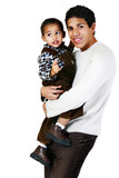 Young Parent Holding & Carrying Child Toddler poster