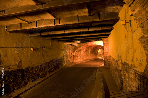 Guanajuato Traffic Tunnel At Night Mexico