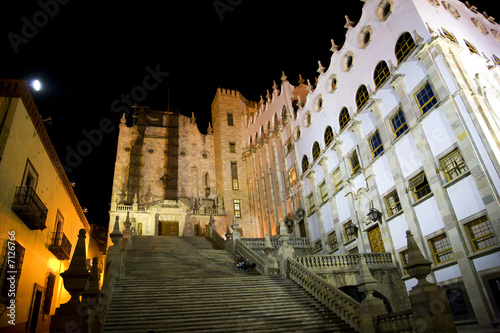 University of Guanajuato Steps Mexico at Night