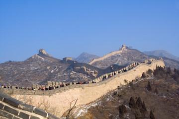 Great wall of China at Badaling in winter