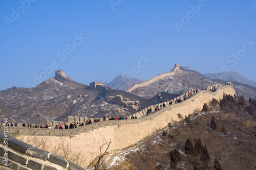 Great wall of China at Badaling in winter