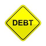 debt sign poster