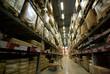 warehouse corridor and handcart