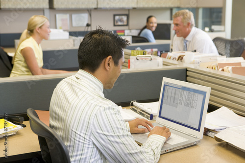 Group of worker in open plan office