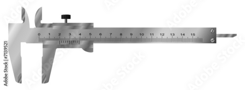Slide gauge. Vector illustration. Isolated on white.