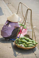 woman selling mangos