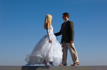 Bride and fiance
