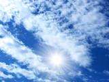 Cielo in una giornata di sole poster
