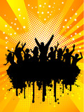 Grunge party crowd poster