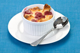 Raspberry bread pudding poster